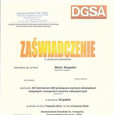 23. 2014 MN SDGSA Gdansk