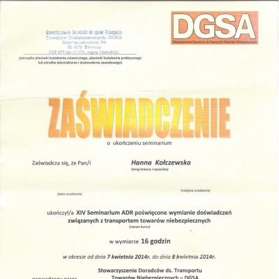 25. 2014 HK SDGSA Gdansk
