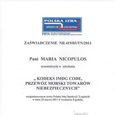 36. 2011 MN IMDG Code
